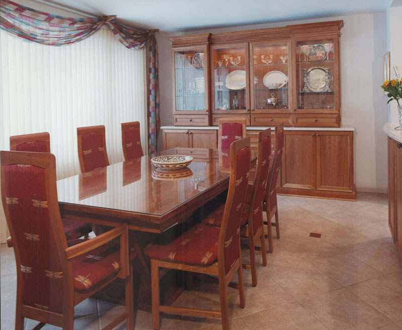 Dining room with storage cabinets, Skokie, IL