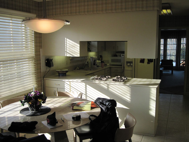 Kitchen design with dining area, Wilmette, IL Before
