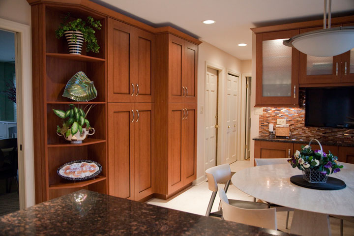 Kitchen tall pantry cabinets, Wilmette, IL