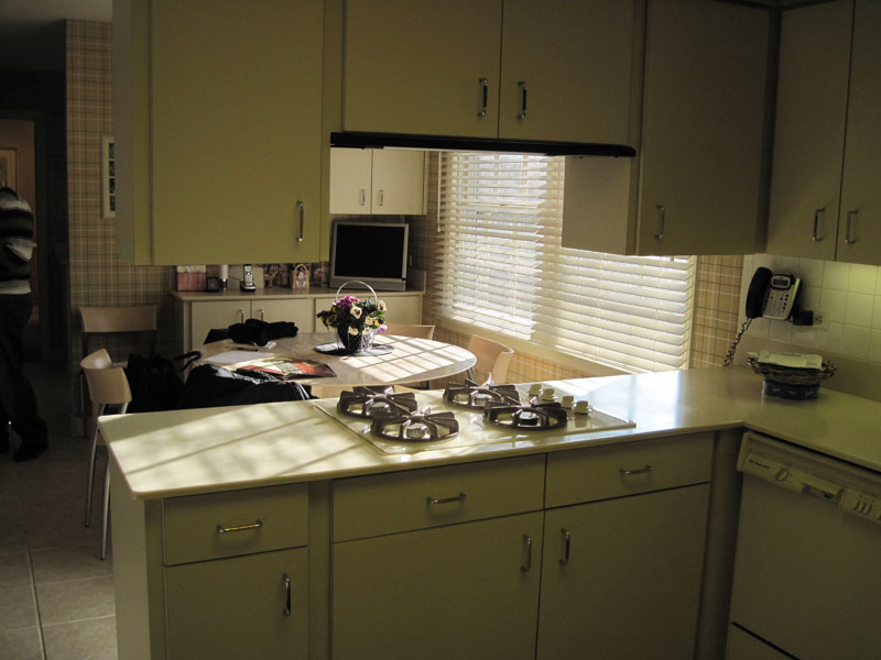 Kitchen peninsula, Wilmette, IL Before