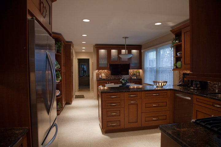 Kitchen peninsula, Wilmette, IL