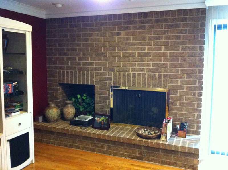 Before Contemporary Fireplace Northbrook IL