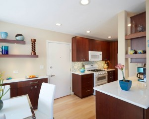 Contemporary kitchen and dining area, Northbrook, IL