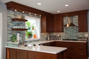 Contemporary Kitchen with peninsula, Northbrook, IL