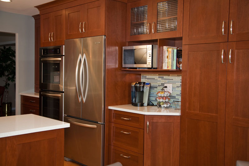 Built-in double oven, refrigerator and pantry cabinets, Northbrook, IL