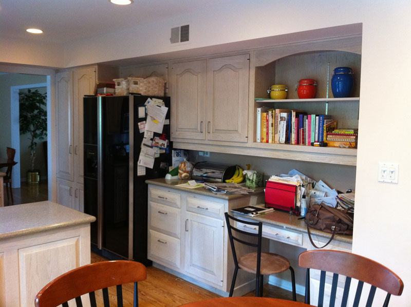 Before Built-in double oven, refrigerator and pantry cabinets, Northbrook, IL