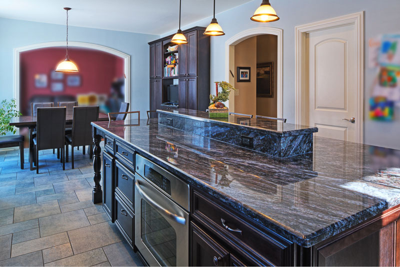Large Traditional Kosher Kitchen With Dark Cabinets And