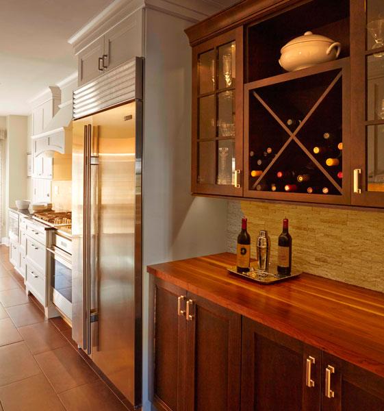 Kitchen wine storage, Highland Park, IL