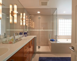 Contemporary Master Bath in Lincolnshire il