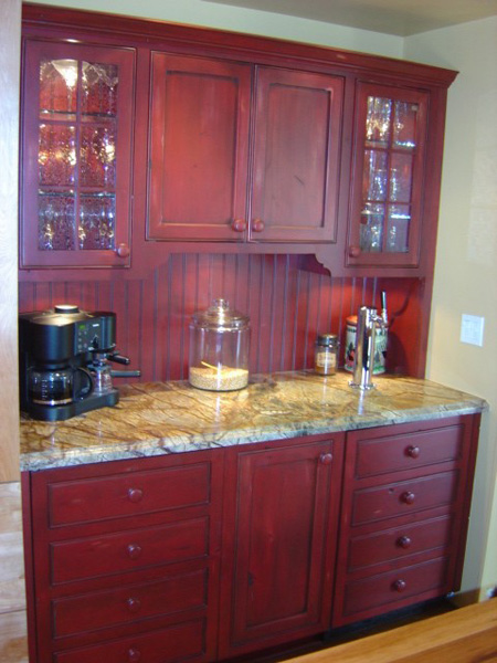 Dining Room Red Hutch