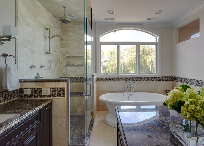 Master Bathroom History elegant traditional master bath in lake forest, il | dream kitchens