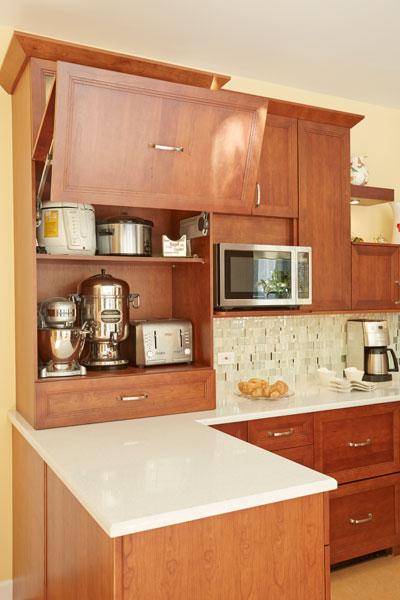Modern Kosher Kitchen Small Appliance Storage
