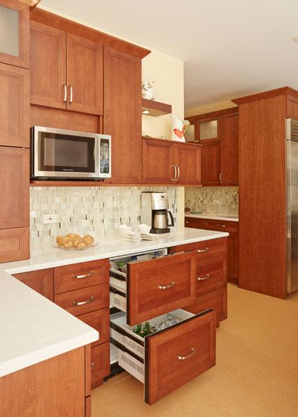 Modern Kosher Kitchen Refrigerator Drawer